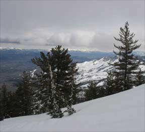 Washoe Valley from ridgetop